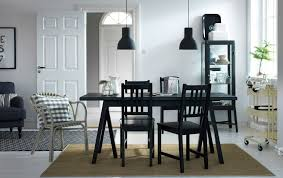 Ikea Dining Chairs Covers Ikea Dining Room Furniture Polished Small Black Wood Dining Table