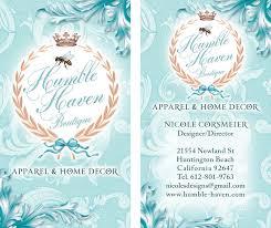 Home Graphic Design Business Boutique Beautiful Custom Business Card Design Portfolio