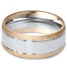 hammered gold wedding band hammered 14k gold two tone mens 8mm wedding ring band size 7 12
