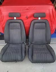 fox mustang seats 1993 93 ford mustang 5 0 cobra black cloth front seats oem