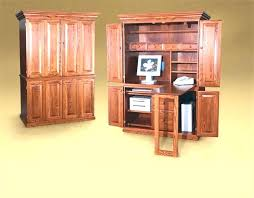 Wood Computer Armoire Armoire Solid Wood Computer Armoire Oak Corner S Style