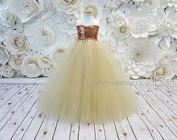girls tutu dress bow dress weddings champagne flower