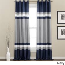 lush decor alexander stripe room darkening window panel pair