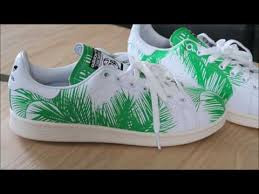pharrell adidas originals stan smith palm tree sneaker