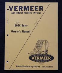 genuine vermeer 605c 605 series super c baler parts catalog