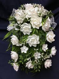 Seashell Bouquet White Seashell Flowers Cascading Wedding Bouquet Ocean Blooms Now