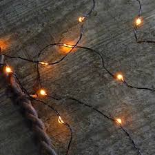 18 orange micro led string lights battery operated 3 ft