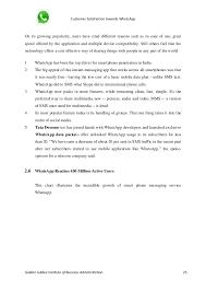 project report on u0027customer satisfaction towards whatsapp u0027