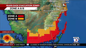 Miami Dade College Map by Miami Dade County Orders About 100 000 Residents To Evacuate