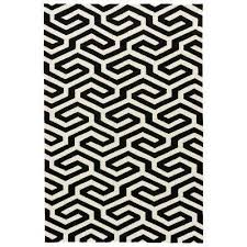 Black And Cream Rug Waterproof Area Rugs Rugs The Home Depot