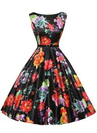 polyester floral sleeveless above knee dresses airydress