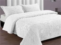 Twin White Comforter King Size White Bedspread Ballkleiderat Decoration