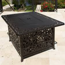 fire table cover rectangle daring aluminum fire pit 48 inch rectangular cast propane coffee