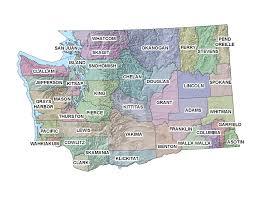 Spokane Washington Map Washington Fwo Endangered Species Map