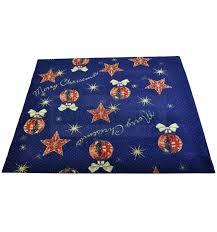 tappeti natalizi tappeto di natale addobbi natalizi passatoia 97x100 cm b3