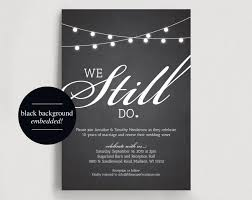 foil sted wedding invitations we still do vow renewal invitation vow renewal invite wedding