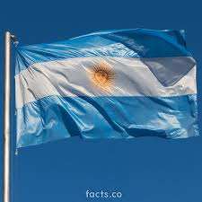 Blue Flag With Yellow Stripe Argentina Flag La Bandera De La Argentina