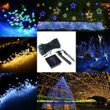 56ft solar powered 100 led string light waterproof outdoor