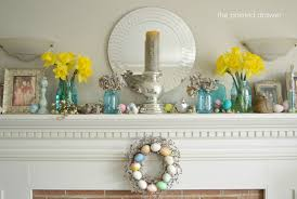 easter mantel decorating ideas