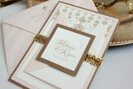 blush and gold wedding invitations southern panel invitation suite gold blush ivory