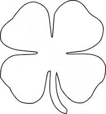 4 leaf clover template small four leaf clover pattern sablonok leaf