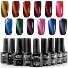 12pcs cat eye magnet soak off gel nail polish 5 free magnet slice