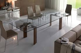 Best Glass Dining Room Table With Extension Contemporary Room - Contemporary glass dining table and chairs