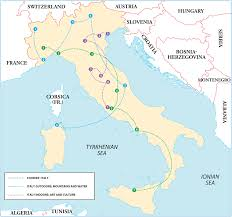 Ferrara Italy Map by Rg B Format
