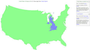 Population Map Of The United States by Oc Regions Of The U S With The Same Population As The Uk