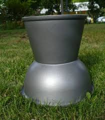 i love this idea big planters are so expensive but not this one