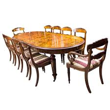 10 seat dining room set stunning bespoke handmade burr walnut marquetry dining table 10