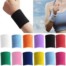 sweat bands 2018 men women sports sweatband terry cloth wrist sweat bands