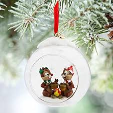 disney chip n dale glass globe sketchbook ornament