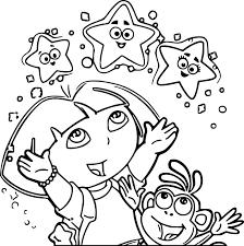 smartness ideas dora coloring pages free printable dora the