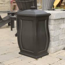marvelous outdoor patio garbage can outdoor patio trash can home