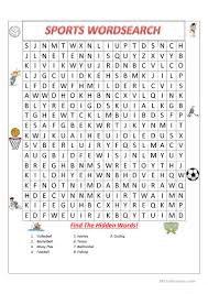 sports wordsearch worksheet free esl printable worksheets made