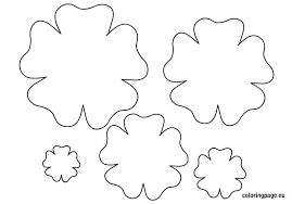 flower template cut coloring free download