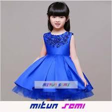 dress anak jual dress anak import dress pesta anak gaun pesta biru anak