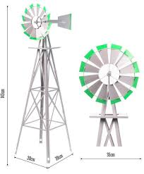 1400mm metal ornamental garden windmill garden windmills