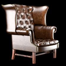 Wing Chair Chesterfield High Back Wing Chair 3d Model Cgtrader