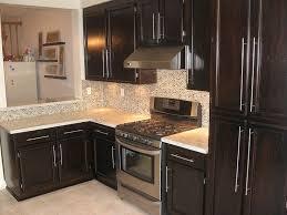 how to stain kitchen cabinets darker cabinet backsplash