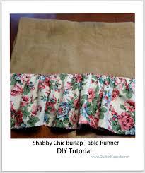 shabby chic burlap table runner diy