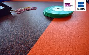 our commercial rubber flooring is durable enough to withstand the