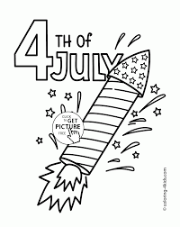 usa rocket of 4th of july coloring page for kids coloring pages