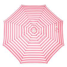 destinationgear 6 ft aluminum cabana stripe bistro umbrella
