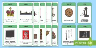 timeline flash cards victorians