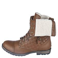 s fold combat boots size 11 s fold fur combat boot 1075 13 cognac shiekh shoes
