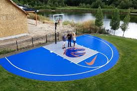 bryan harsin u0027s backyard court bosie blue and orange court