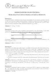 geotecnica dispense esercizio di geotecnica 5 docsity
