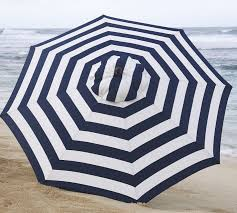 Blue And White Striped Patio Umbrella Market Umbrella Stripe Pottery Barn